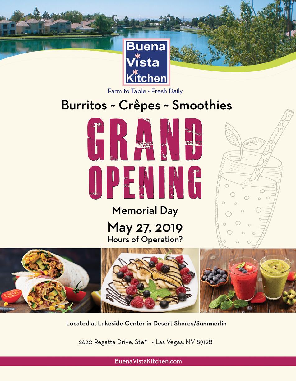 Buena Vista Kitchen Grand Opening Flyer