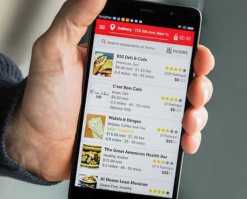 Ordering app phone image