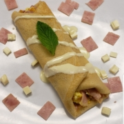The Sunday Morning Breakfast Crepe Served Fresh