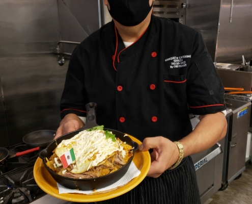 Chilaquiles with Carnitas by Chef Manny at Buena Vista Kitchen