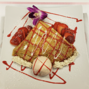 Strawberry Cheesecake Sweet Crepe Buena Vista Kitchen Desert Shores